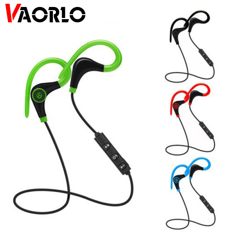 VAORLO Wireless Bluetooth Earphone Sport Hand-free Earhook Earphones Red Headset With Mic For Xiaomi Auricular Fone De Ouvido