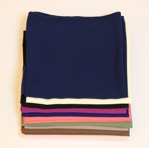 Image 2 - מכירה לוהטת באיכות גבוהה 23 נחמד צבע רגיל בועת שיפון צעיף פופולרי מוסלמי חיג אב ראש ללבוש אופנה נשים כיכר צעיף 90X90cm
