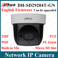 Dahua Original SD29204T GN 2MP 4X Optical Zoom SD Card IR PoE Security Camera Built in MIC Replace SD22204T GN With Logo