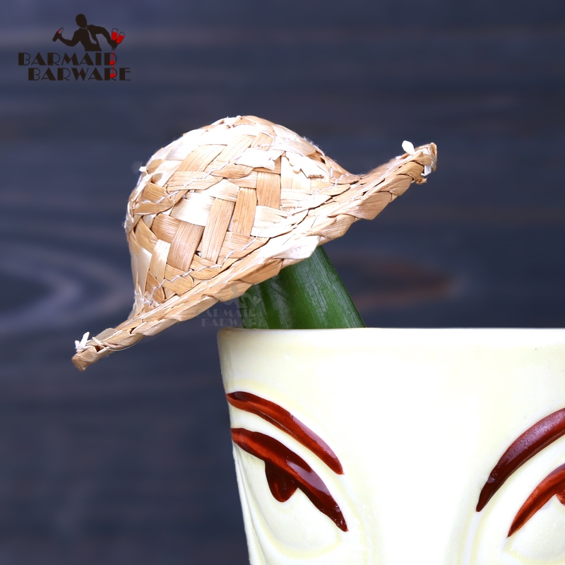 1pcs/10pcs 6.7cm/8cm Mini Decorative Small Straw Hat For Cocktail Drink Cocktail Picks Bar Tools Bar Accessories