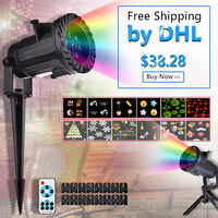 Kaigelin DHL Free Shipping 16 Pattern Christmas Laser Snowflake Projector LED Outdoor Star Light Christmas Decorations