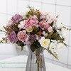 DIY Party Decoration Vintage Silk Flowers Bouquet