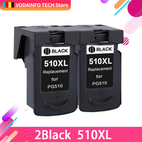 2 PCS Compatible Ink Cartridge Replacement for Canon PG 510 CL 511 PG510 CL511 PG 510 CL 511 for Pixma MP240 250 MP260