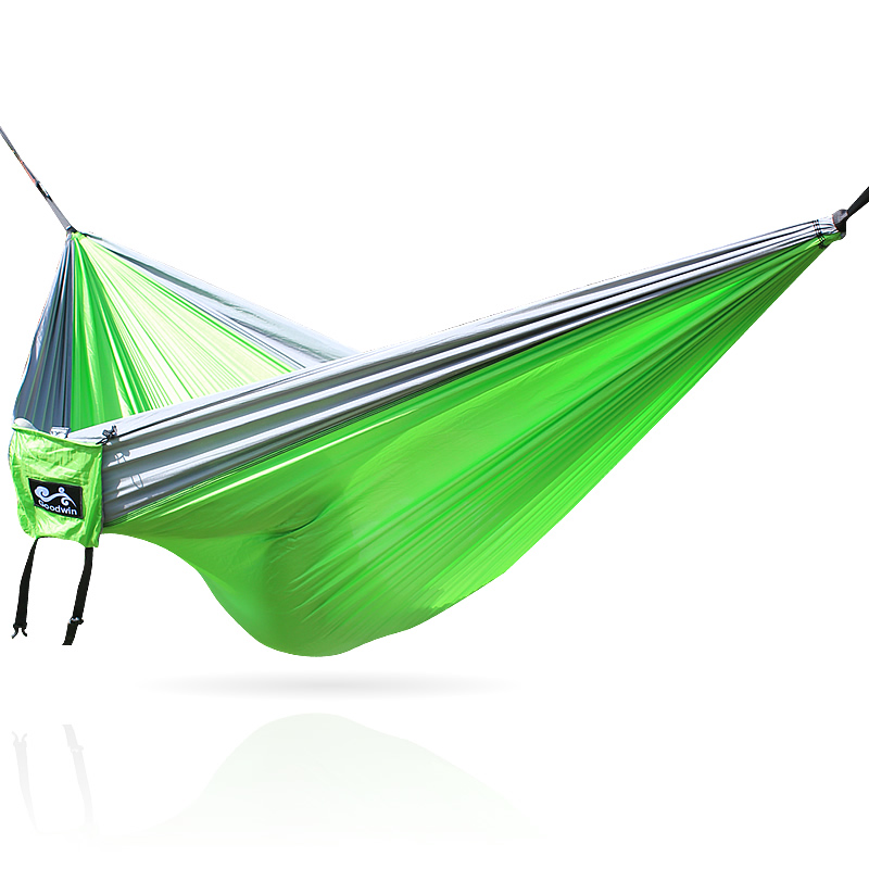 Gray Green Gray 300*200CM Big Size 210t Nylon Hammock