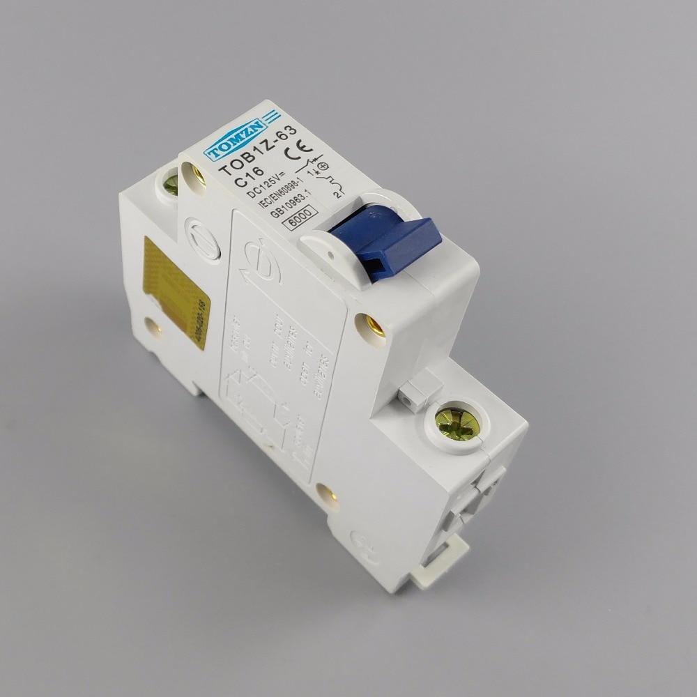 1P 16A DC 125V Circuit breaker MCB C curve цена