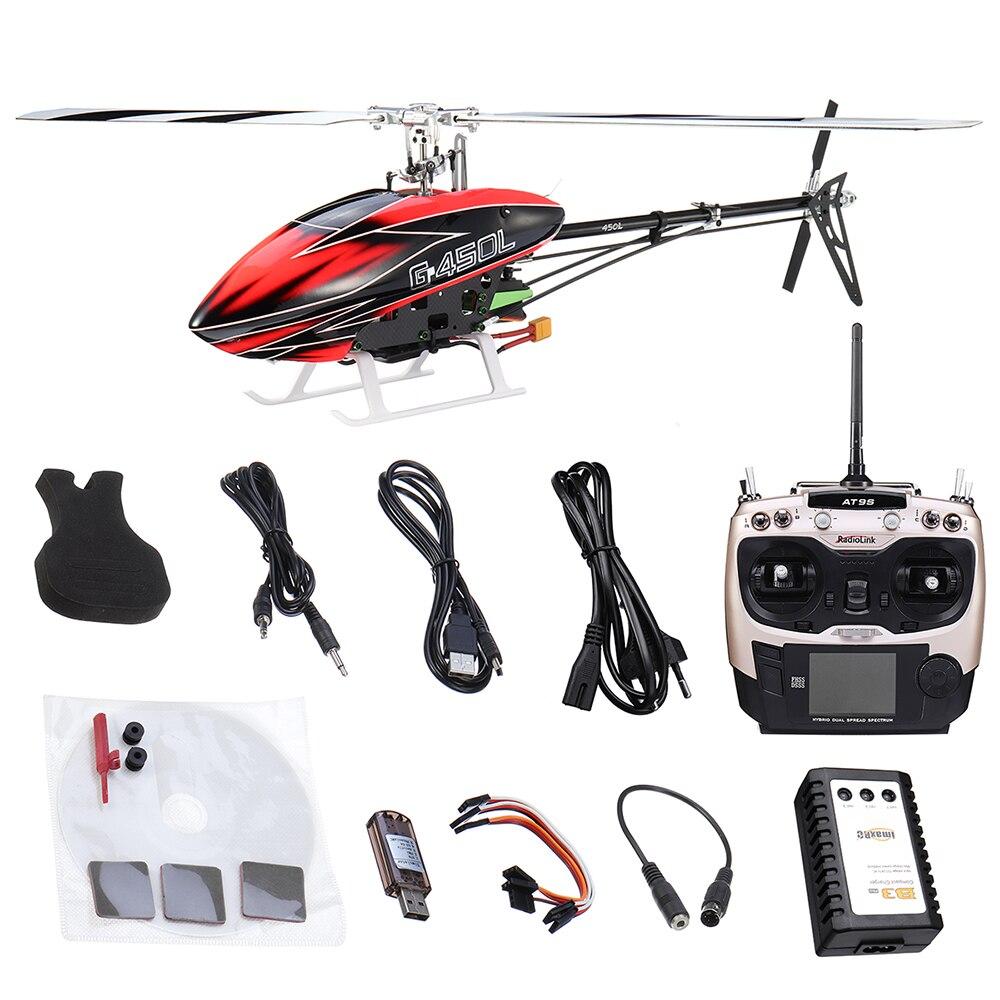 В наличии! JCZK нападение 450L DFC 6CH 3D Flybarless вертолет пропеллеры Aileronless Drone модель игрушки с передатчиком RTF