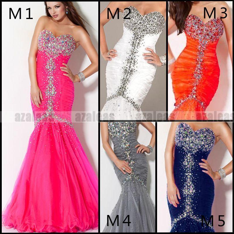 free shipping custom 2014 New vestidos formale long Sexy Rhinestones Mermaid Gorgeous maxi Evening Prom Gowns Graduation Dresses