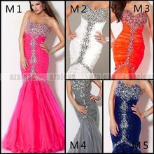 free shipping custom 2014 New vestidos formale long Sexy Rhinestones Mermaid Gorgeous maxi Evening Prom Gowns Graduation Dresses