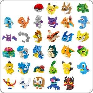 LNO Anime Pocket Monster Pikachu Blastoise Venusaur Charizard Gyarados Animal DIY Small Mini Diamond Blocks Building Toy no box(China)