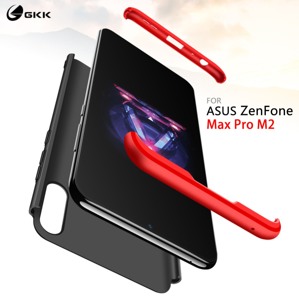 GKK for <font><b>ASUS</b></font> <font><b>Zenfone</b></font> <font><b>Max</b></font> <font><b>Pro</b></font> M2 case ZB631KL <font><b>360</b></font> Full Protection Anti-knock 3 in <font><b>1</b></font> Hard cover for <font><b>Zenfone</b></font> <font><b>Max</b></font> <font><b>Pro</b></font> M1 ZB601KL image