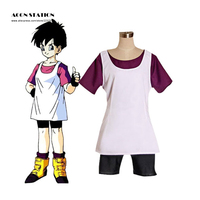 2018 ACGN STATION free ship Top Selling Dragon Ball Z Cosplay Videl Cosplay Costume White Vest Dragon Costume For Free Shipping