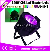 2 шт./лот COB светодиодные светильники dmx uv Высокая мощность 250 Вт rgbw теплый белый cob 250 Вт 6в1 led par Банки