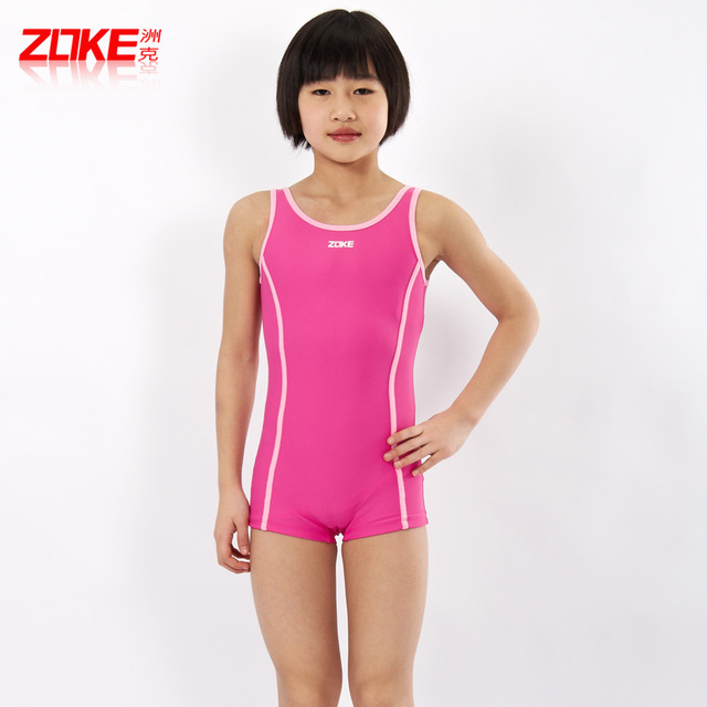 ab023573a3e08 ZOKE professional children's swimsuit girls big boy in Siamese boxer  swimsuit child swimsuit cute Korean spas