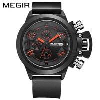 Megir Men Watch Luxury Brand Causal Watch Mens Watches Chronograph Military Watch Sport Wristwatch Relogio Masculino