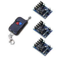 Radio Wireless Remote Control Switch 1CH DC12V 48V Learning Code Remote Switch Transmitter Receiver 30A Relay ON OFF Key