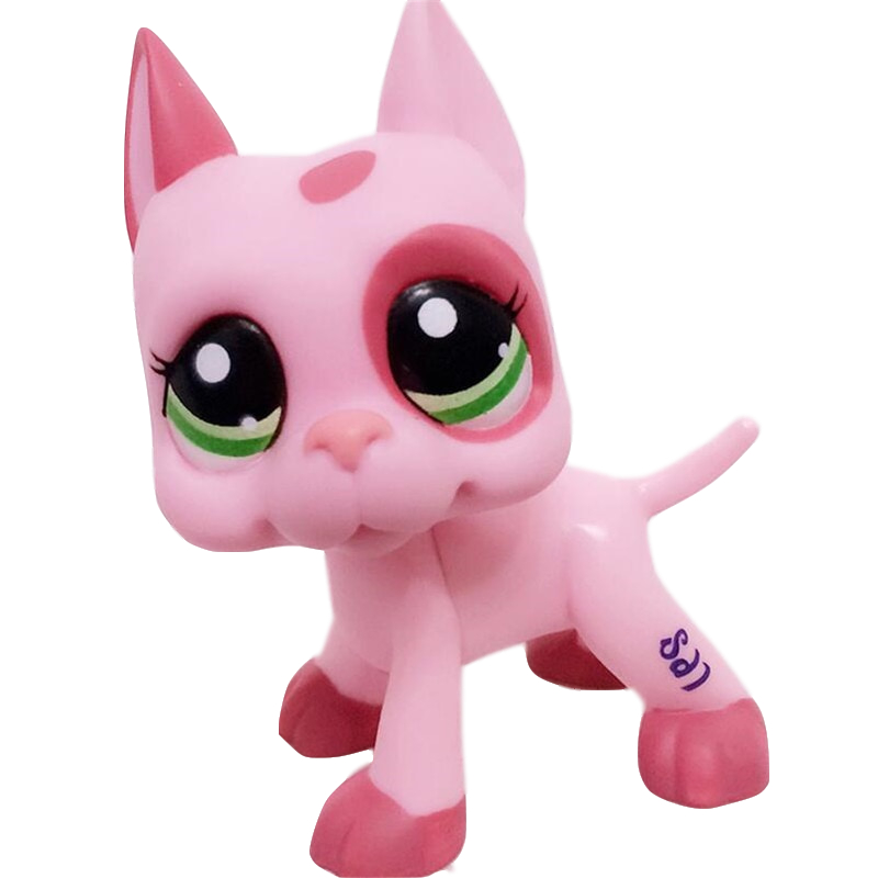 The New Rare Lps Pet Shop Toy Free Shipping Color Shorthair Great Dane Collection 41 Style Action Standing Children Best Gift