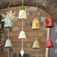 Metal Iron bells metal pastoral Home Furnishing door decoration creative American country colorful wind chime gift bell