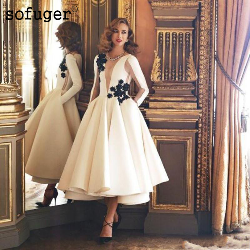 2019 New Black Halter Mermaid Knee-LengthCheap Fashionable Special Occasion   Prom     Dresses   Elegant Long Sleeve Ruffles Sexy New