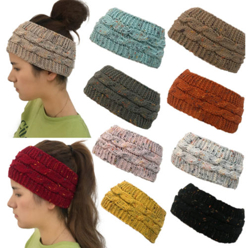 fb80a70c9 US $1.64 44% OFF|2018 Autumn New Womens Beanie Tail Messy Soft Bun Hat  Ponytail Stretchy Knit Crochet Skull Cap-in Skullies & Beanies from Apparel  ...