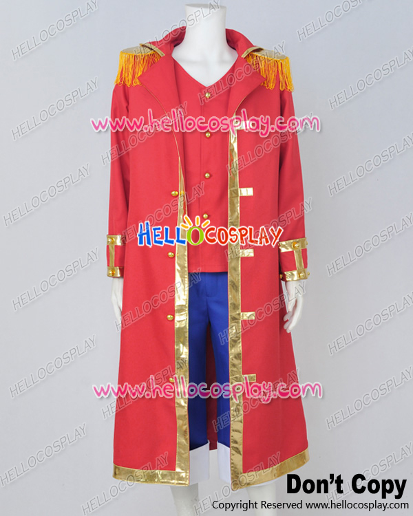 One Piece Cosplay Monkey D Luffy Red Cape Uniform Costume H008
