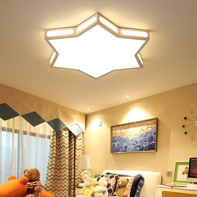 Star child room Acrylic Led Ceiling Lamp for Children Bedroom led Ceiling Lights Kitchen Lighting lustre luminaire lampe deco creative star moon lampshade ceiling light 85 265v 24w led child baby room ceiling lamps foyer bedroom decoration lights