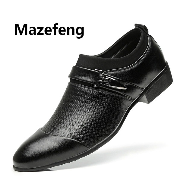 Leather Oxford Shoes For Men Dress Shoes Business 8
