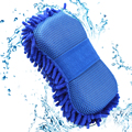 Hot Car wash gloves car cleaning sponge Car Window Cleaning Ultrafine Fiber Chenille Anthozoan Washer Sponge Brush Supplies