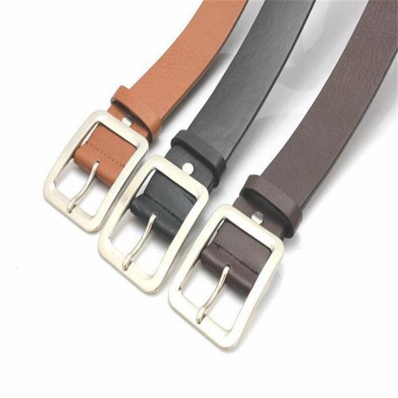 2019 New Mens Artificial Leather Single Prong Belt Men's Casual Faux Leather Belt Buckle Waist Strap Belts 40JA302