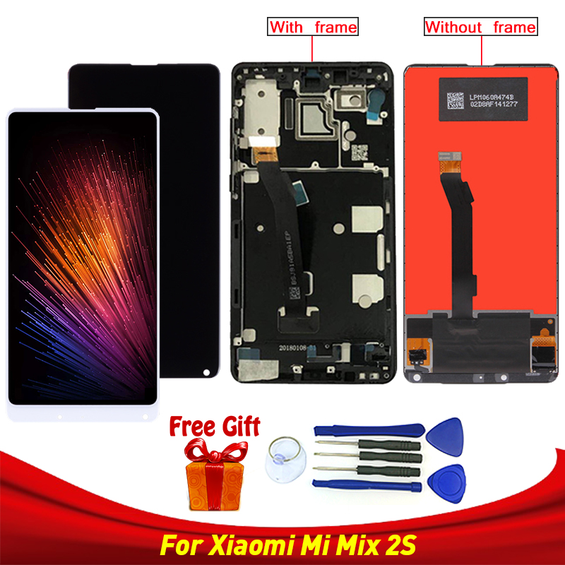 For Xiaomi Mi Mix 2S LCD Display Touch Screen Digitizer Assembly For Xiaomi Mi MIX 2S LCD Replacement Parts Black and whiteFor Xiaomi Mi Mix 2S LCD Display Touch Screen Digitizer Assembly For Xiaomi Mi MIX 2S LCD Replacement Parts Black and white