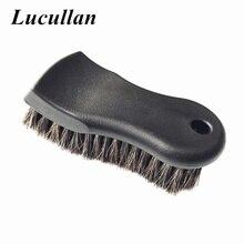 Lucullan более плотного чистого Черный Премиум выберите конский волос подкладке щетка для очистки для кожи, винил, ткань и более