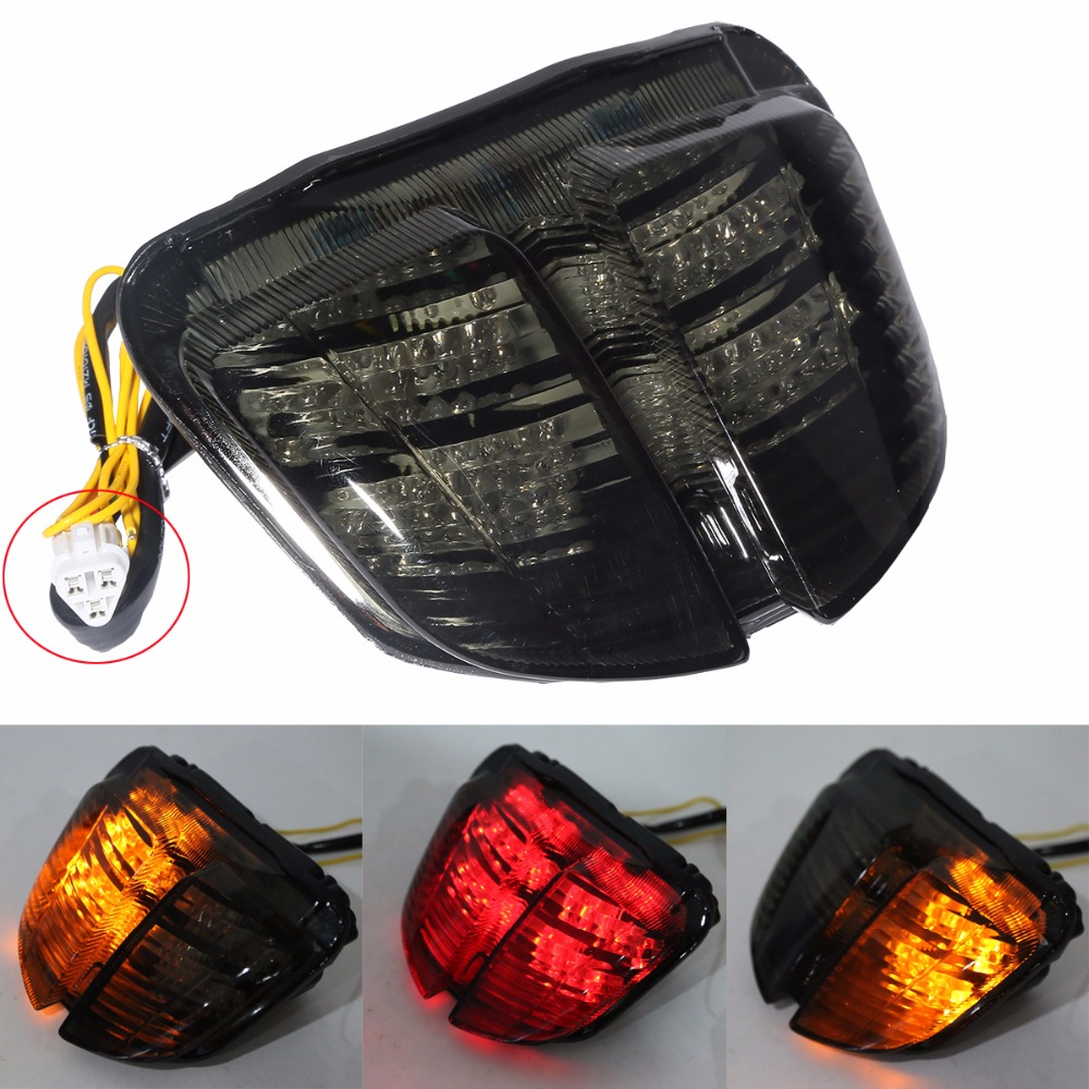 Smoke / Clear Motorcycle LED Brake Tail Light Turn Signal TailLight Case For SUZUKI GSXR600 GSXR750 GSXR 600 750  2006 2007 K6 new led tail light taillight turn signal lamp for ducati streetfighter s 848 1102012 2013 2014 smoke motorcycle parts