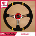 14 Inch MOMO Racing Leather Steering Wheel With Horn Line  RS-STW011