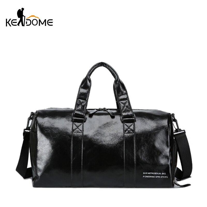 Leather Gym Bag Fitness Sports Bags For Women Men Yoga Mat Tas Travel Luggage Sac De Sport with Shoes bag Sporttas 2019 XA824WD