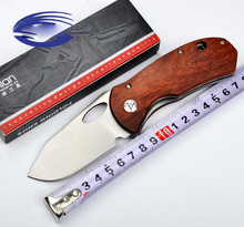 Red Rosewood Tactical Folding Knife Wide Pocket Knife 8CR13MOV Hunting Survival Knives Camping EDC Tools 1581#