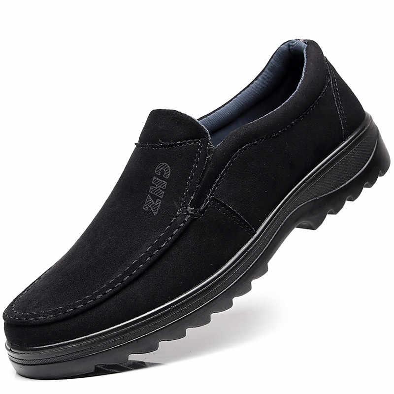 2faa18b1d ... Модные осенние Мягкие Мокасины, мужские лоферы высокого качества, большие  размеры 45, 46, ...