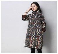 Fleece Lining Turtleneck Graffiti Jumper Dress Ladies Winter Oversized Thicken Long Sleeve Loose Tunic Dress voguee NEW Pullover
