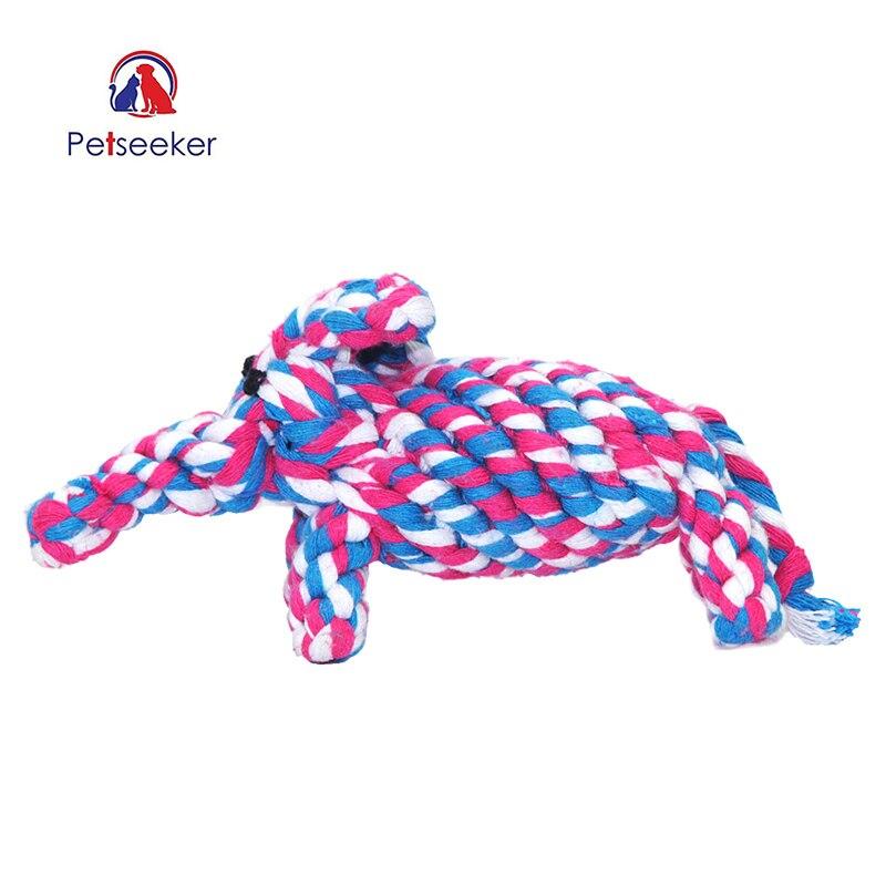 ③Nuevo perrito masticar Juguetes algodón cuerda nudo divertido ...