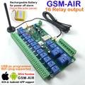 El envío libre de correo aéreo Del Poste de 1 unids tablero de Relé de $ number canales En Tiempo Real GSM de Control Remoto Recargable batería para la alimentación alarma