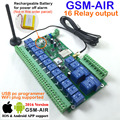 O envio gratuito de Correio aéreo 1 pcs 16ch placa de Relé Real-Time GSM Controle Remoto bateria Recarregável para desligar alarme