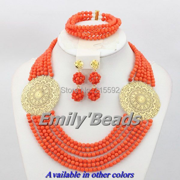 6 Layers New Top Design Nigerian Wedding African Coral Beads Jewelry Set Pink Necklace Jewelry Set Wholesale Free Shipping CJ2526 Layers New Top Design Nigerian Wedding African Coral Beads Jewelry Set Pink Necklace Jewelry Set Wholesale Free Shipping CJ252