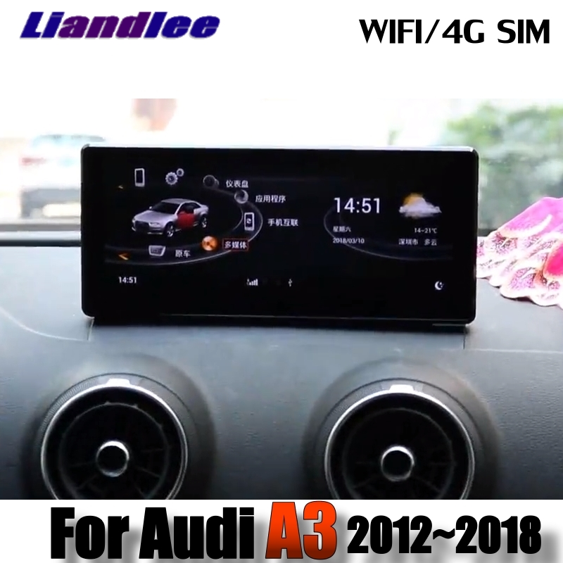 Liandlee автомобильный мультимедийный плеер NAVI для Audi A3 S3 RS3 8 В MQB 2012 ~ 2018 оригинальный автомобиль Системы радио стерео gps Экран навигации