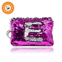 купить BONAMIE New Fashion Women Coin Purse Sequin Zipper Change Purse Kids Girl Women For Gift Bling Coin Bag Card Holder Mini Wallet по цене 152.46 рублей