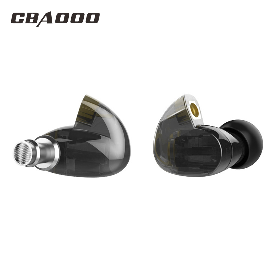 CBAOOO HT11 Hybrid Technology Earphone In Ear Headset Audio Monitors Noise Isolating HiFi Music Sports Earbuds without MIC dhl free 2pcs black white m6 pro universal 3 5mm wired in ear earphone noise isolating musician monitors brand new headphones