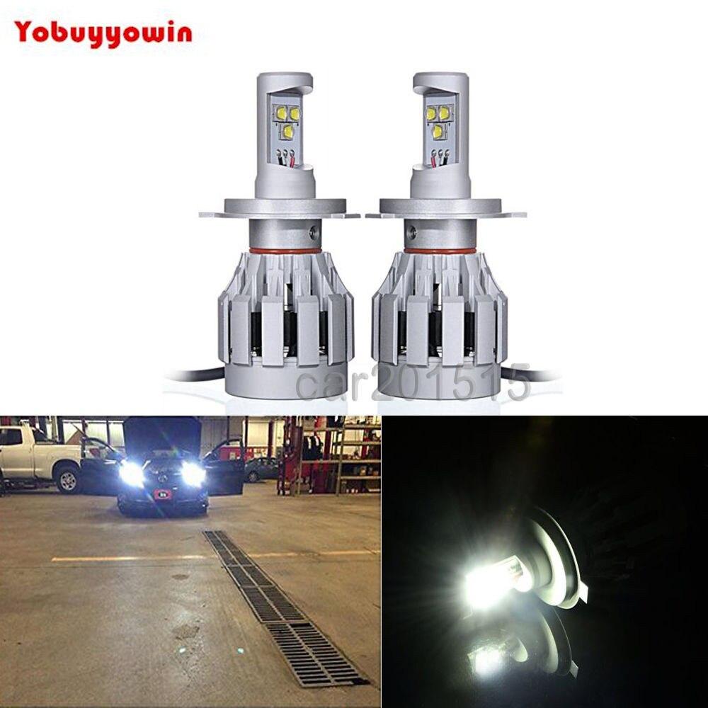 Canbus H4 60W 6000LMS Headlight Kit LED For Car Motor Bike/Moped/ATV Hi/Low Beam Headlight Bulb FLight DRL 1512 replace