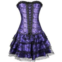 10pcs lot Sexy Underbust Corset And Bustier Lace Evening Women Casual Push Up Gothic Corset