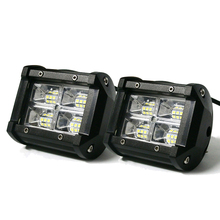 Pair 3.75 Inch 24 Led Light Bar Flood light Flash Strobe 120W 12000 Lumens Driving Fog Lights for Jeep Truck Motorcycle