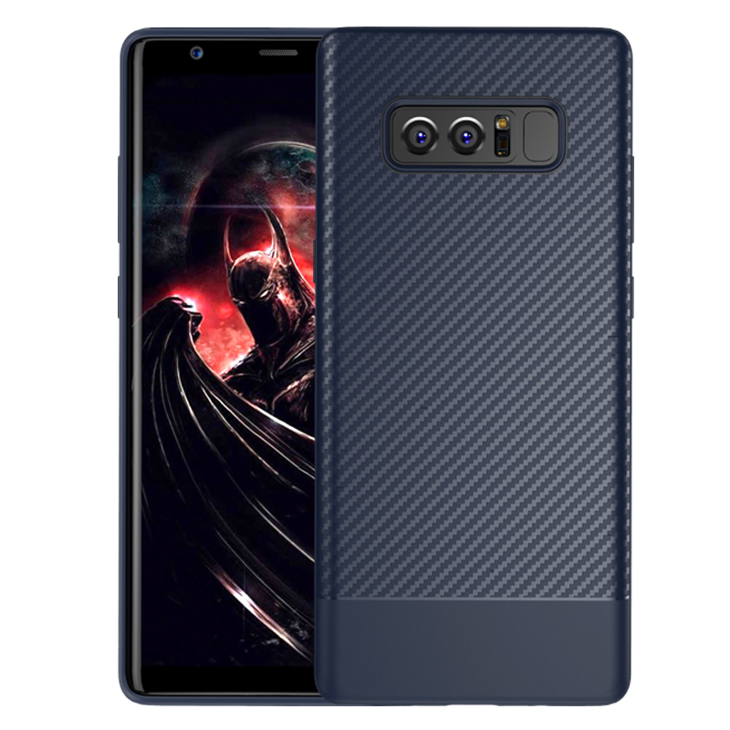 Note8 Luxury Case For Samsung Galaxy Note 8 Soft Silicon TPU Hybrid Carbon Fiber Cover F ...