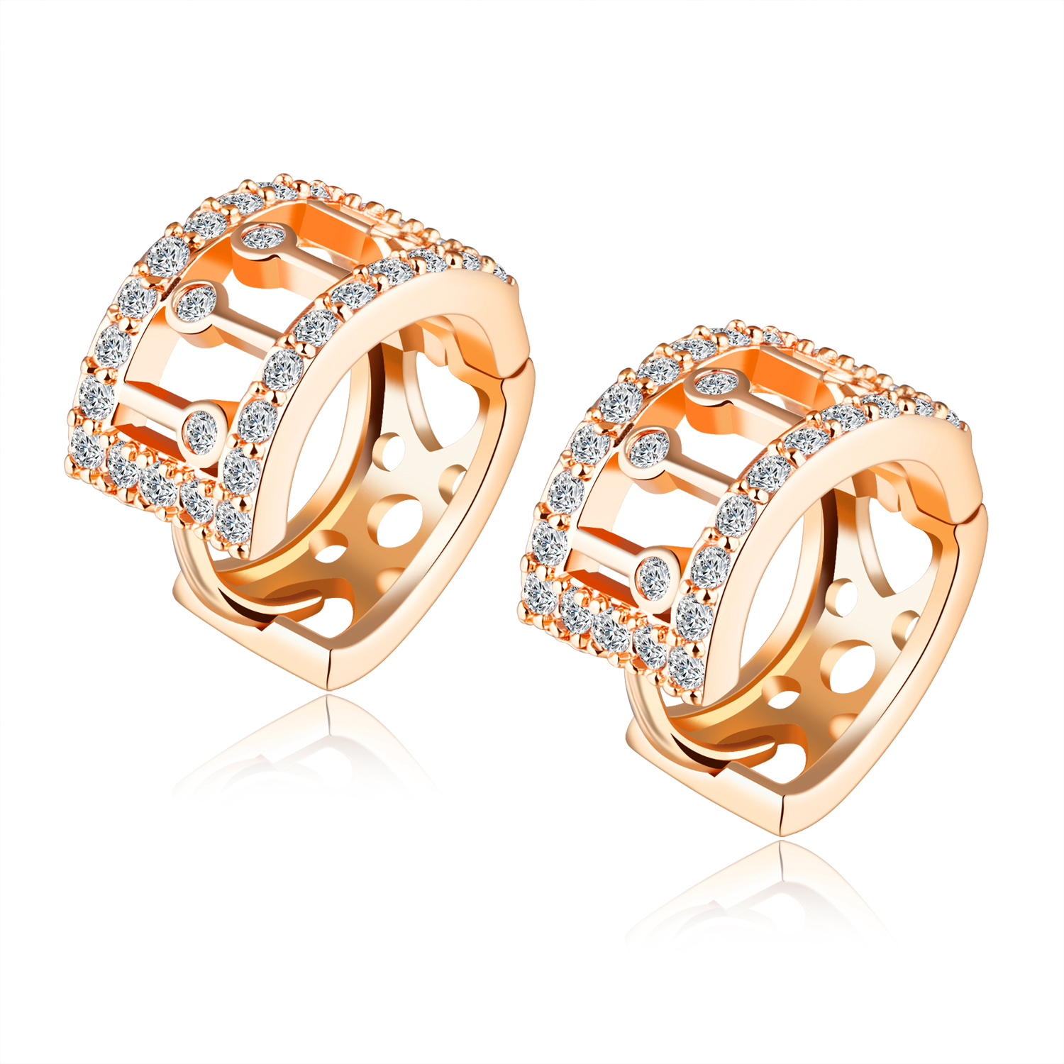 New Arrival Fashion Women Jewelry Delicate Accessories Inlaid Cz Little  Hoop Earrings Gift For Girls Kc678