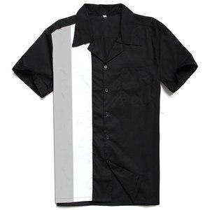 Image 5 - Charlie Harper Shirt Vertical Striped Shirts for Men 50s Rockabilly Shirt Button Down Cotton Shirts Short Sleeve Vintage Dress