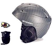 MOON Carbon Fiber Skiing Snowboard Helmet Integrally Molded Ultralight Breathable Ski Helmet CE Quality Arrive In